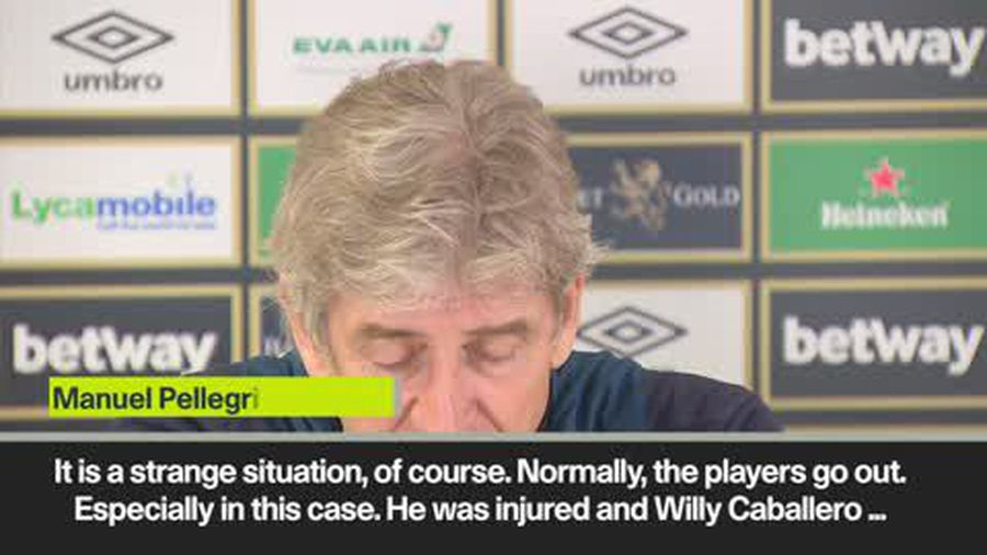 """He was injured"" -Pellegrini doesn't understand Kepa reaction"