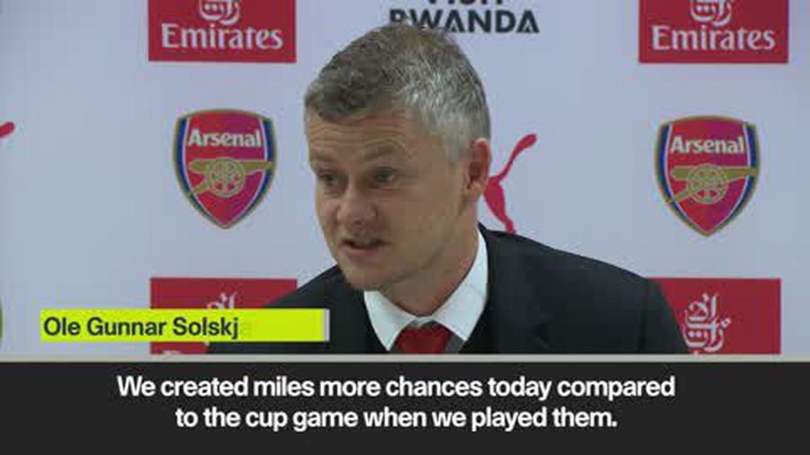 Solskjaer 'can't be disappointed with Man Utd performance' in Arsenal defeat