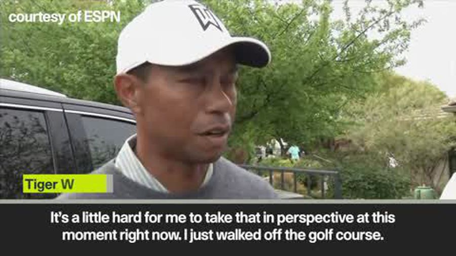 Tiger Woods frustrated after elimination from WGC Dell Technologies Match Play
