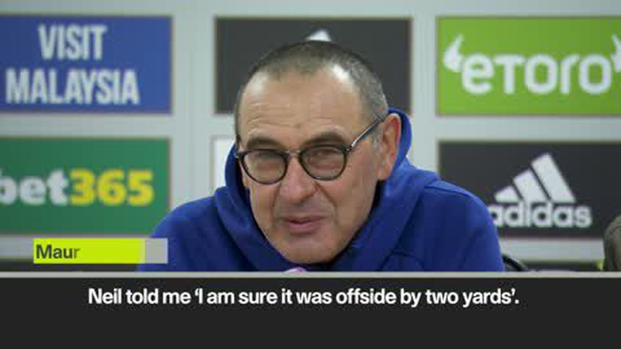 'Neil was sure it was offside!' Sarri and Warnock on Azpilicueta goal