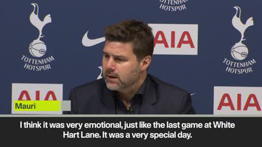 """""""It was a very emotional day"""" - Pochettino on Spurs' 2-0 win in first Premier League game in new ..."""