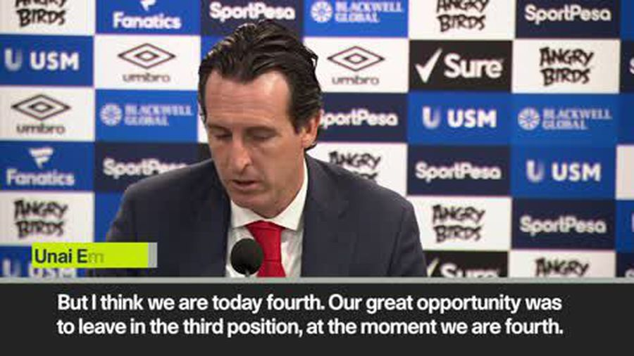 'Arsenal lost a great opportunity' Emery on 1-0 loss to Everton