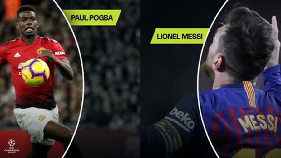 Pogba v Messi data head-to-head in this years Champions League so far