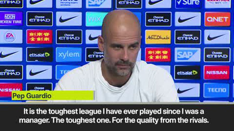 Guardiola says Liverpool are best side he has faced as a manager