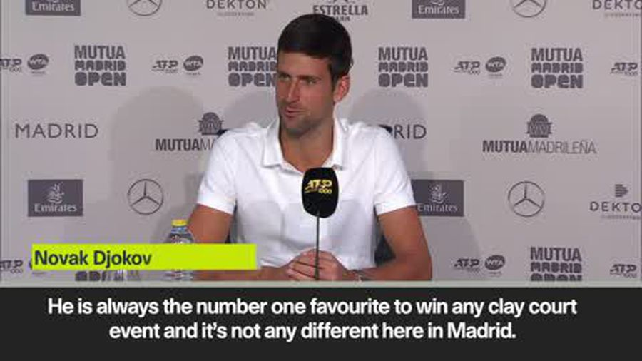'He is always favourite to win on clay' says Djokovic of Nadal
