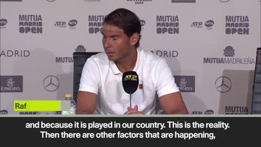 """""""The only favourite is the winner"""" - Nadal ahead of Madrid Open"""