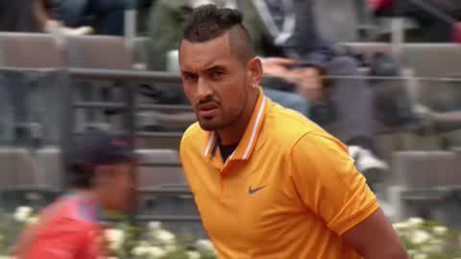 Kyrgios stuns opponent with tricks and flicks en route to victory