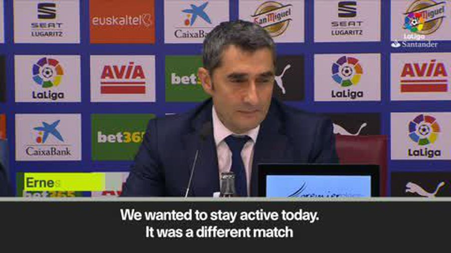 'It will be different in the Spanish Cup final' Valverde after Barca draw 2-2 with Eibar