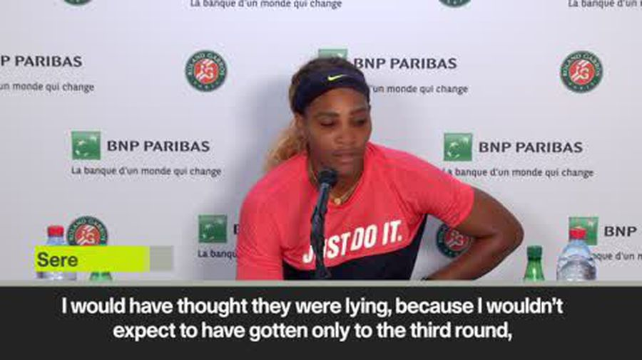 Serena Williams 'didn't expect' third round exit at French Open