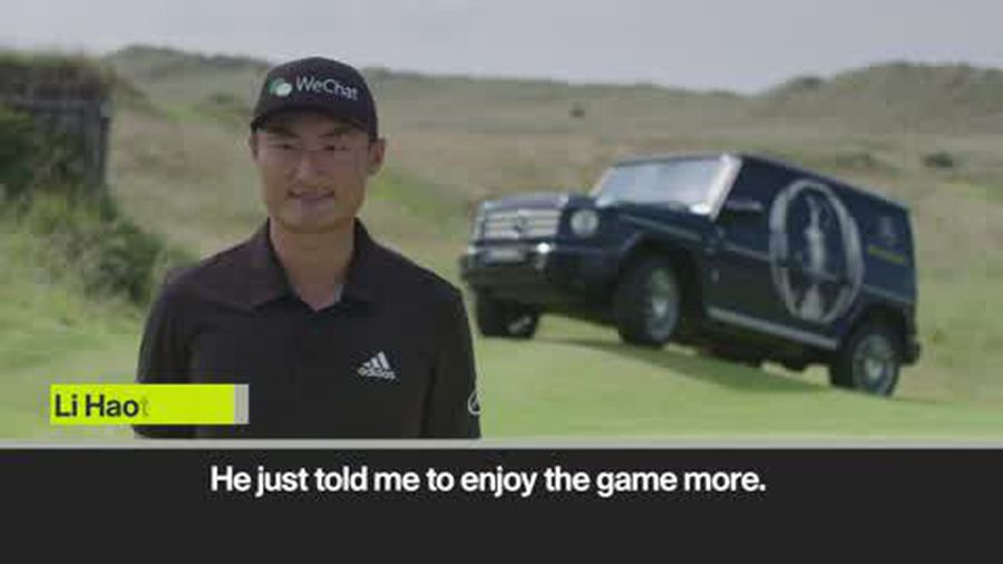 Li Haotong on McIlroy's advice ahead of The Open Championship