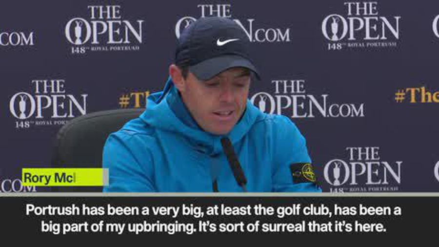 'It's surreal to be here' says Rory McIlory