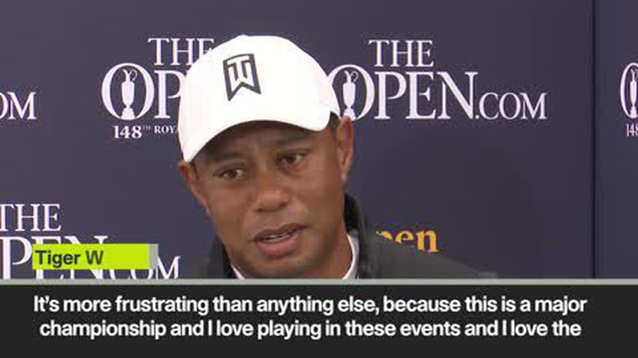 Tiger Woods 'frustrated' by Open Championship performance