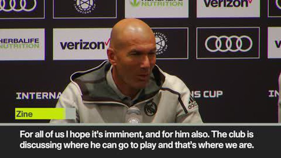 Zidane confirms Bale's departure from Real Madrid