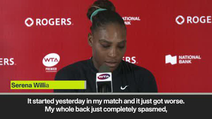 'Back spasms are incredibly painful' says Serena Williams after Rogers Cup retirement