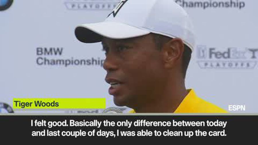 'I was able to clean up the card' says Woods after shooting a 5-under 67 in the BMW championship ...