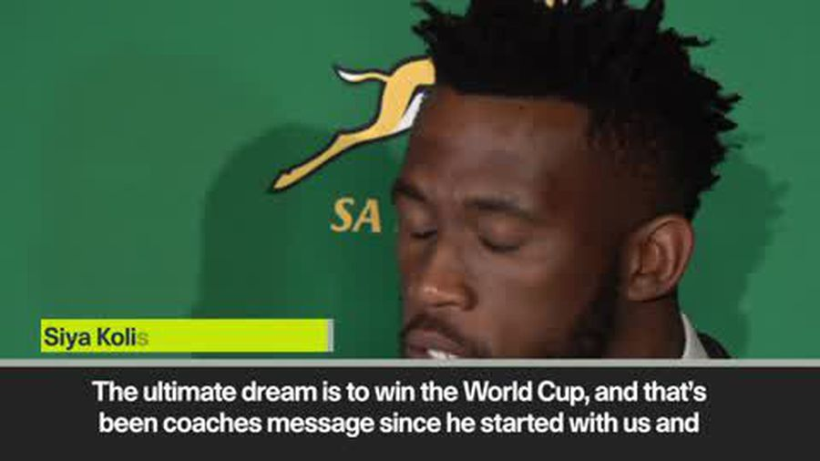 'The ultimate dream is to win the World Cup' - South Africa's Kolisi and Erasmus