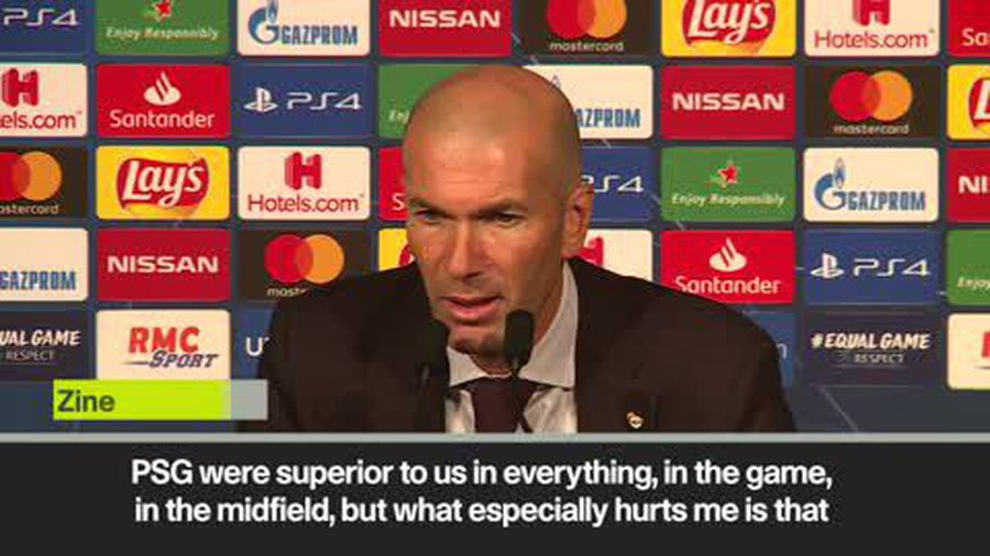 'PSG were superior in everything' Zidane