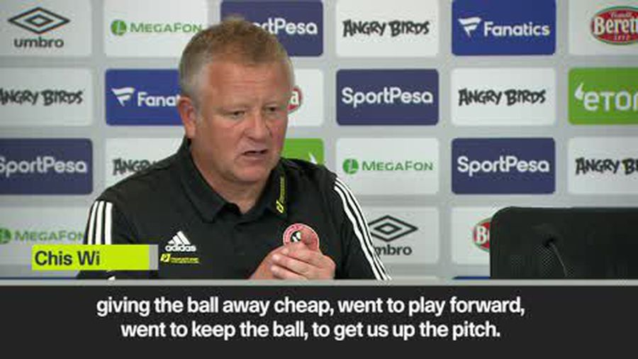 """""""Let's get out of here quickly"""" Wilder jokes after Sheffield Utd 2-0 win at Everton"""