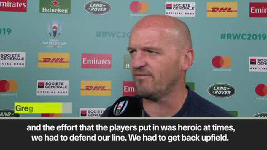 Coach Gregor Townsend praises 'heroic' Scotland after 28-21 defeat by Japan