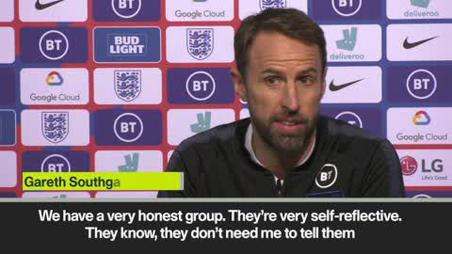 Southgate insists 'defeats don't harm if the reaction is good'