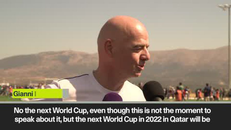 Infantino laughs off concerns about 2022 WC after Doha World Athletics issues