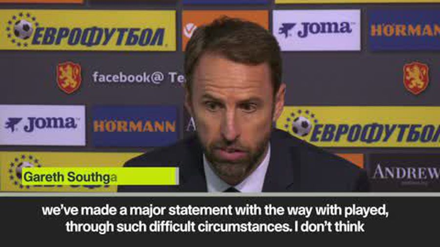 'A major statement' - Southgate on racism in Bulgaria and how England reacted