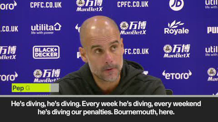 'He's diving again' - sarcastic Guardiola on De Bruyne after VAR denied penalty