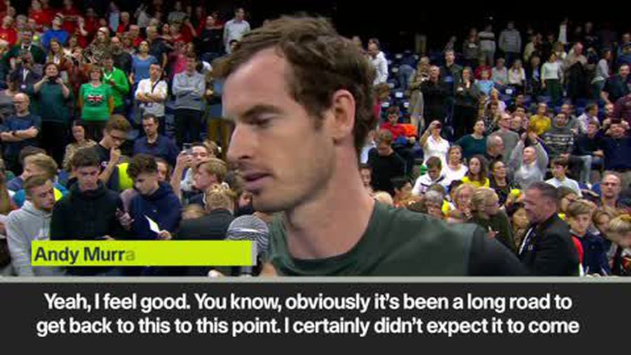 I 'didn't expect it so soon' - Andy Murray after reaching 1st ATP final in 2 years