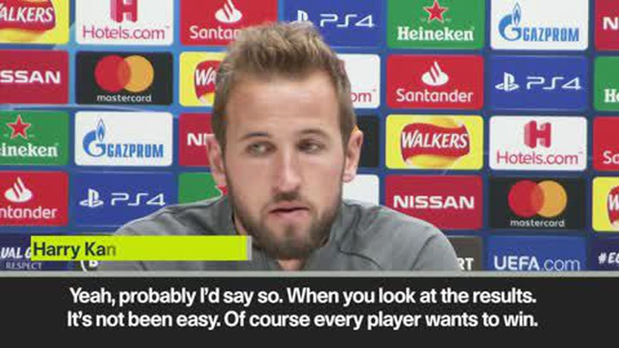 Kane admits it's the toughest time since he's arrived at Tottenham