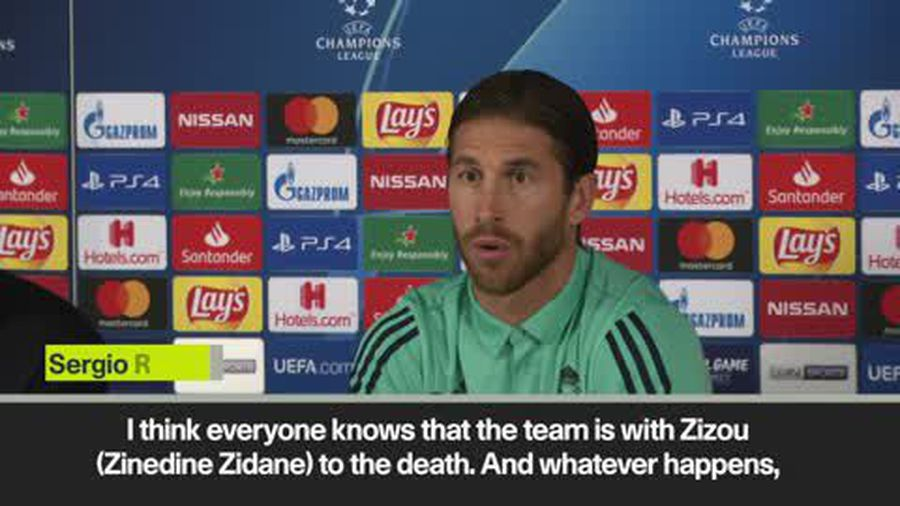 "Sergio Ramos says Real Madrid players are with Zidane ""to the death"""