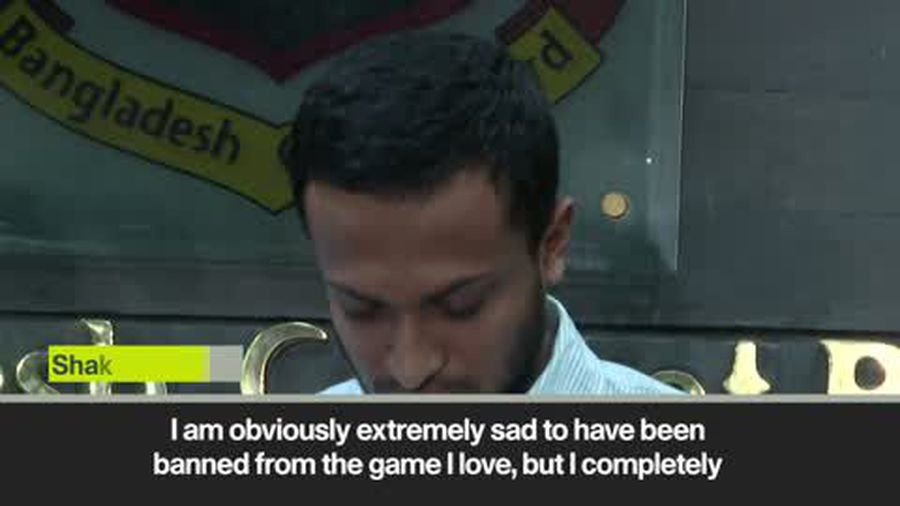 Shakib al Hasan responds to ban after admitting corruption