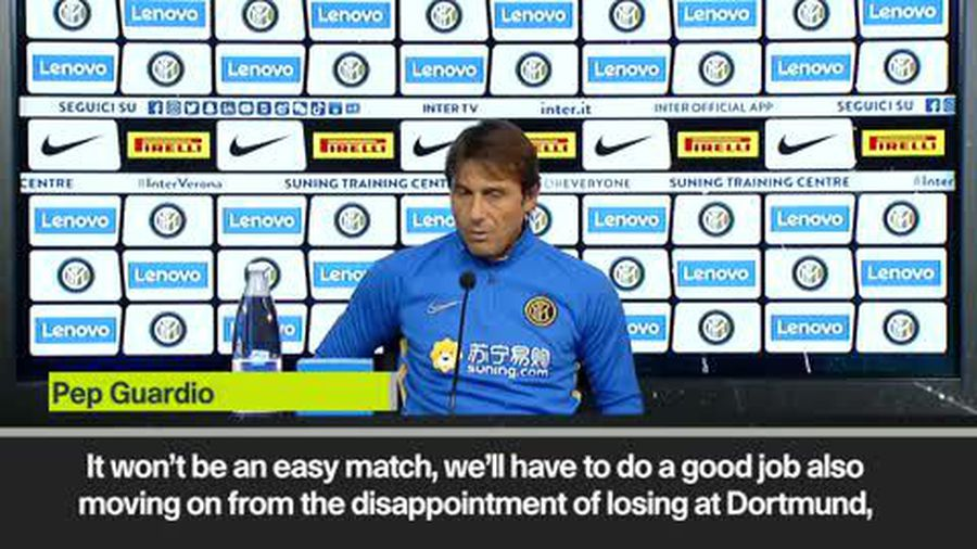 Conte says Inter Milan need to bounce back after losing in the UCL