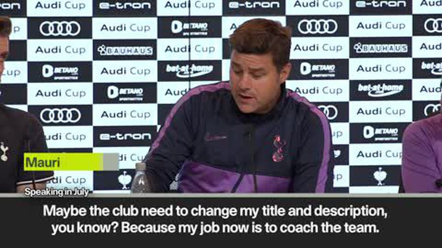 FILE of Pochettino describing himself as Spurs 'coach' when asked about summer transfers