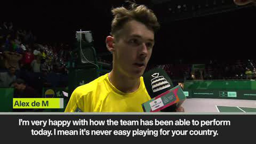 'Extra nerves when playing for country' - Australia's Alex de Minaur after win