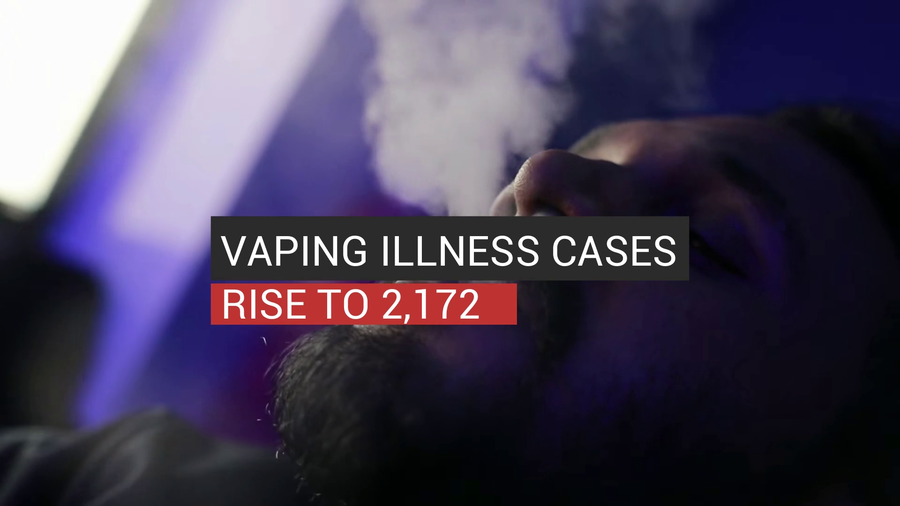 Vaping Illness Cases Rise To 2,172