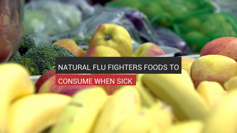 Natural Flu Fighters Foods To Consume When Sick