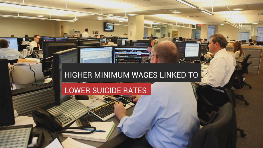 Higher Minimum Wages Linked To Lower Suicide Rates