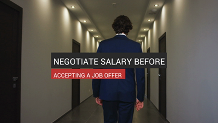 Negotiate Salary Before Accepting A Job Offer