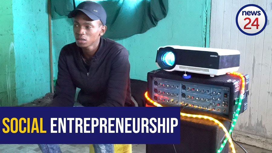 WATCH: Khayelitsha's Buhle Sithelana uses solar power to host pop-up cinemas