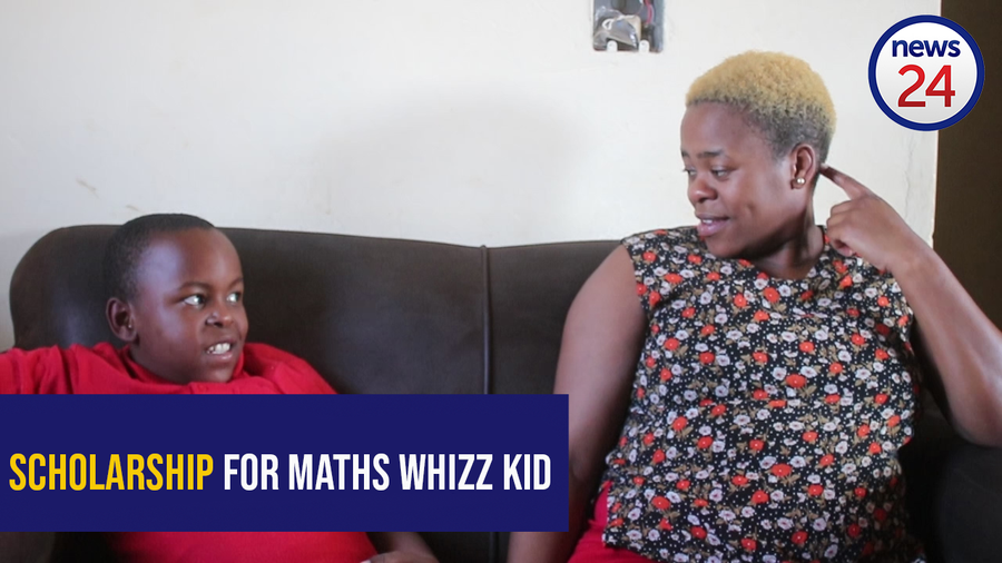 WATCH: Little Maths genius scores prestigious scholarship