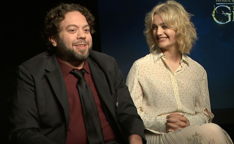 Callum Turner, Alison Sudol, Dan Fogler from Fantastic Beasts: The Crimes of Grindelwald