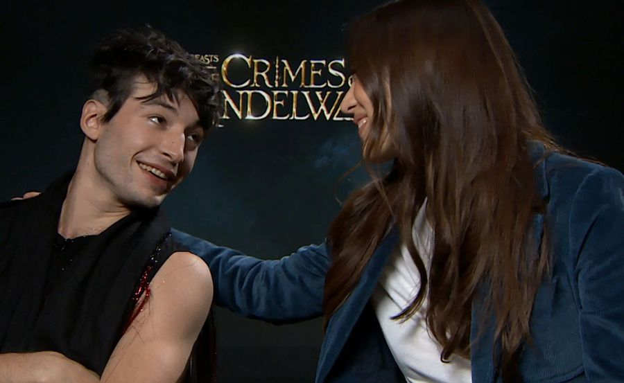 Ezra Miller and Claudia Kim from Fantastic Beasts: The Crimes of Grindelwald