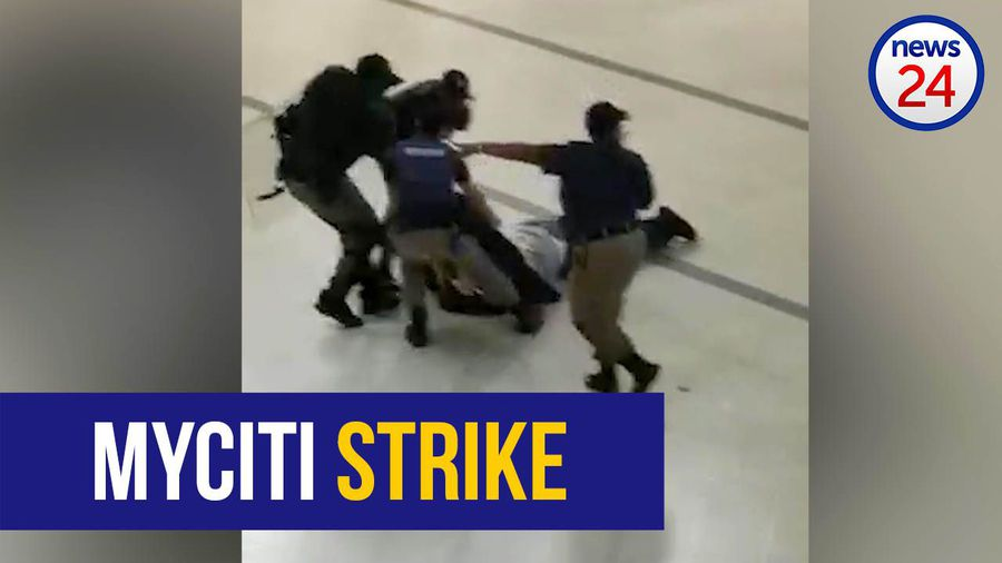 WATCH: Striking MyCiTi workers removed from civic centre with force