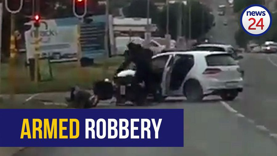 WATCH: Video shows biker robbed at gunpoint in Edenvale