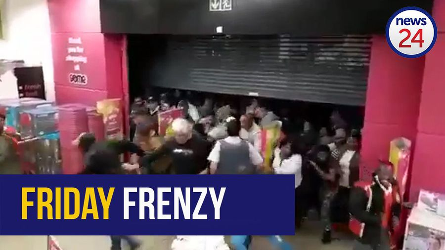WATCH: #BlackFriday | Pushing and shoving as Baywest Mall Game opens