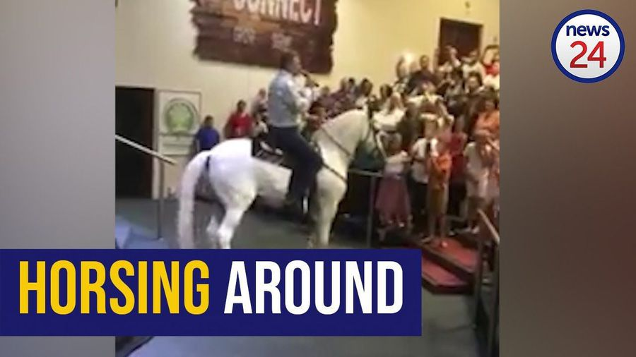WATCH: Straight from the horse's mouth - Pretoria preacher uses trusty steed to deliver sermon