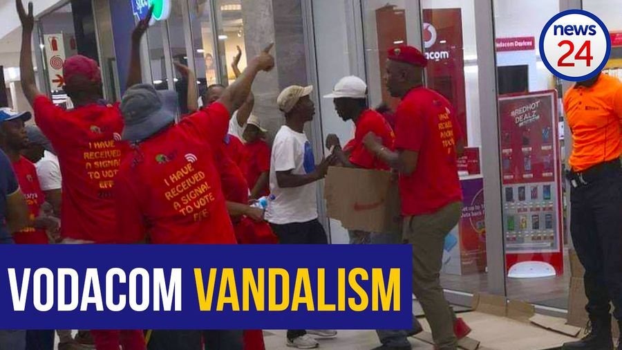 WATCH: EFF supporters storm Vodacom stores