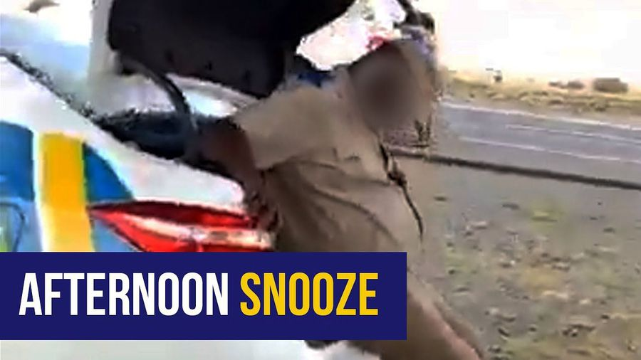 WATCH: Free State police department confirms sleeping traffic cop is 'on medication'