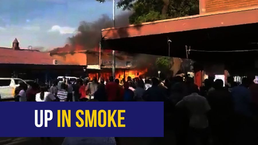 WATCH: Fireworks suspected as general dealer goes up in smoke in Pretoria