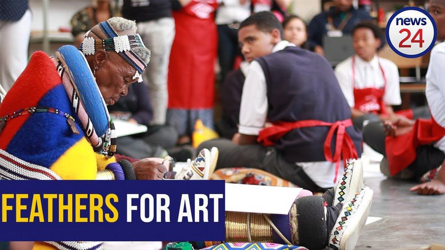 WATCH: Dr Esther Mahlangu wows Joburg high schoolers with painting masterclass
